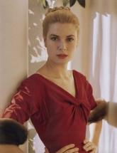 Princess Grace Red Silk Dress 1