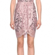 Sleeveless Floral-Lace Sheath Dress, Rose Pink