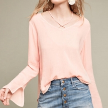 Strappy V-Neck Blouse