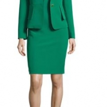 Structured Stretch Crepe Sheath Dress w Jacket,