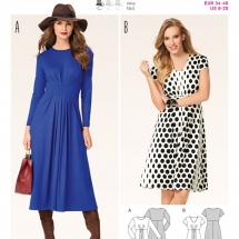 burda-6562-burda-ladies-easy-sewing-pattern-6562-pleated-front-dresses